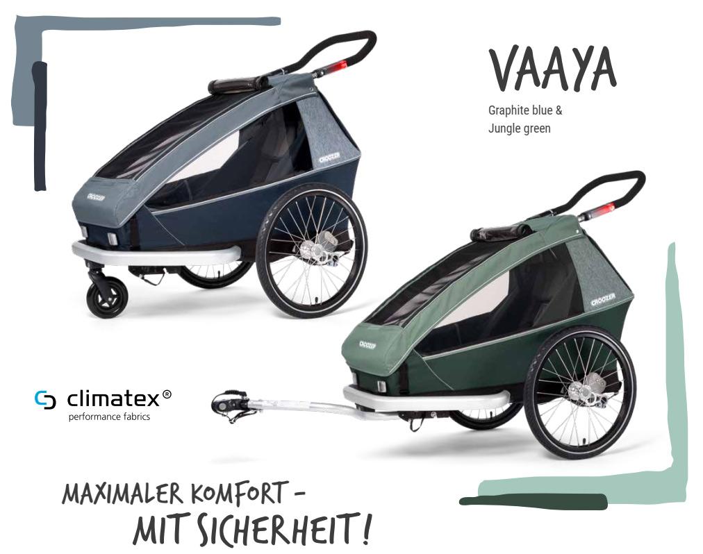 Fahrradanhaenger Croozer Vaaya Ein- und Zweisitzer