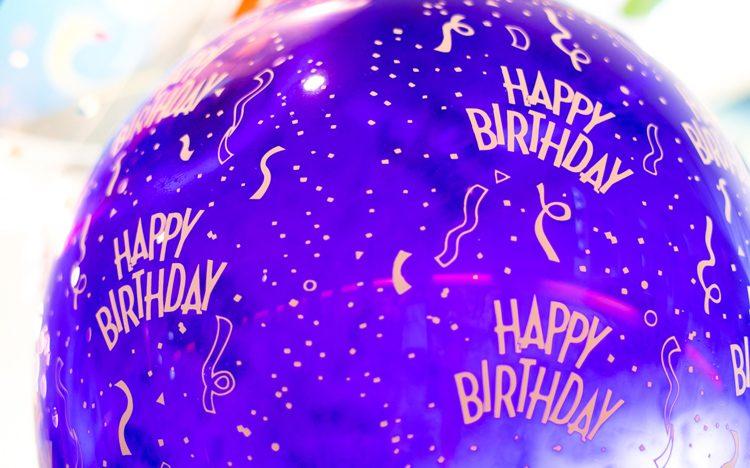 Geburtstagsballon mit Helium