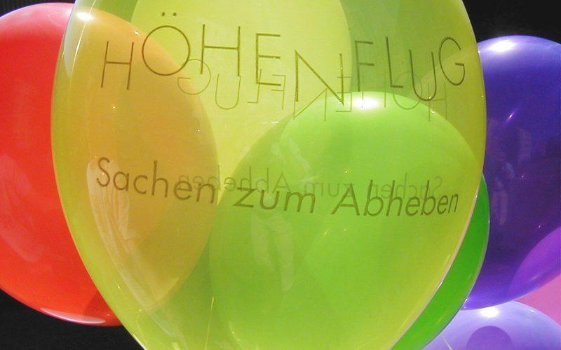 der Höhenflug Ballon mit Helium