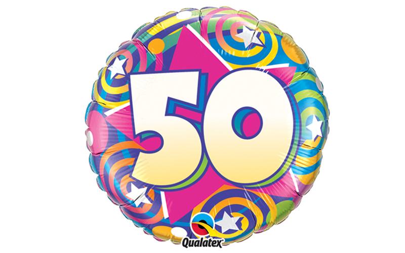 """Folienballon """"50"""" mit Helium"""