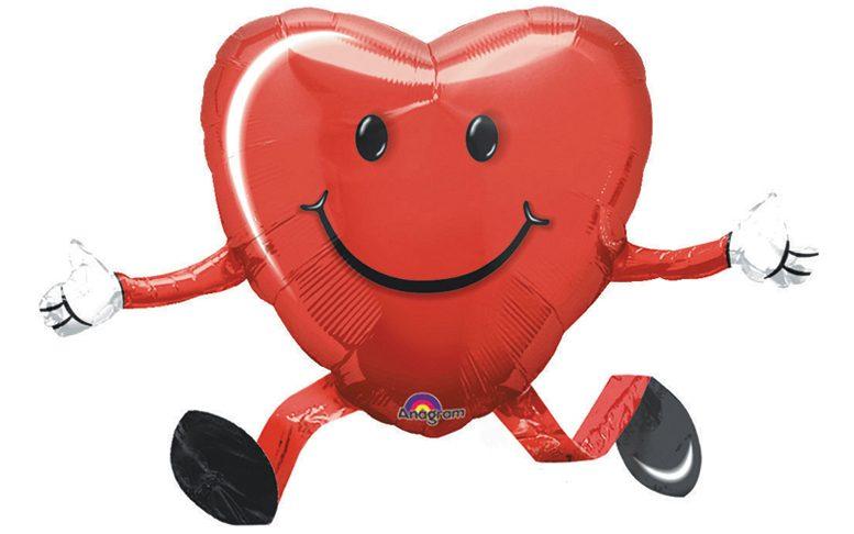 Herzballon mit Helium